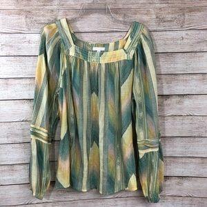 Lauren Conrad   square neck flowy blouse